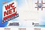 WC Net - Candeggina, con Perle di Bicarbonato - 4 confezioni da 2 pezzi da 40 g [8 pezzi, 320 g]