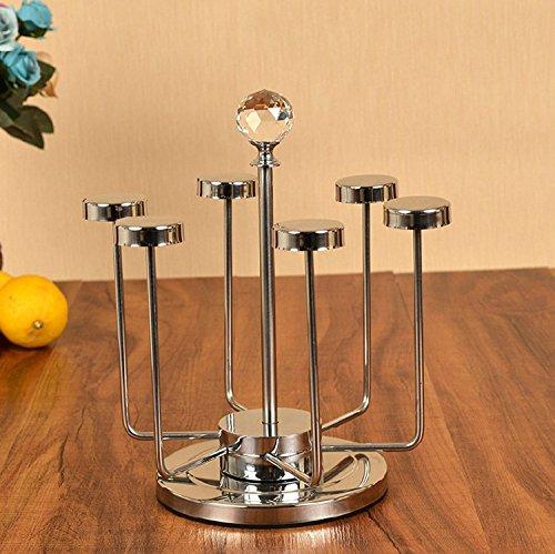 ZHDC® Porte-gobelet en acier inoxydable Porte-gobelet en verre de vin Multifonctions