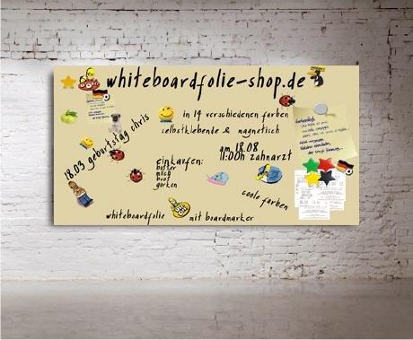 Whiteboard l Flipchart - magnetisch - Angebotstafel Magnettafel 200x100cm Aluminium Platte - beige- versandkostenfrei