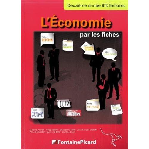 L'économie par les fiches BTS Tertiaire 2e année