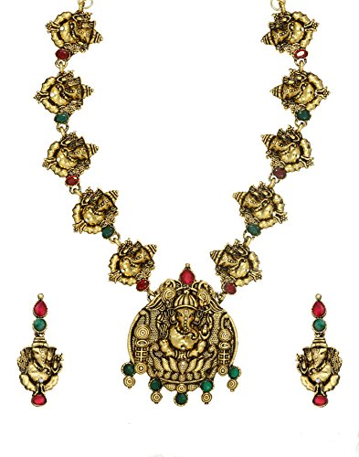 Zaveri pearls zpfk384 Temple Jewellery Alloy Jewel Set - Best