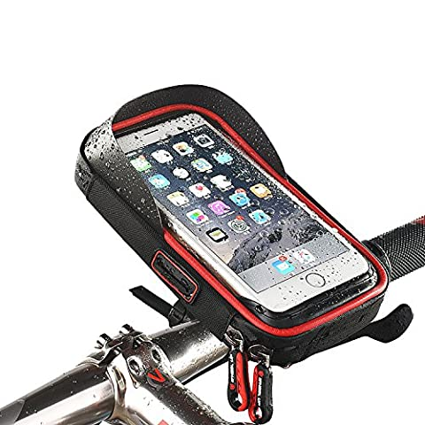 Vovoly Bike Mount Phone Holder Waterproof with Touchable Screen 360 Degree Adjustable Phone Case For 6 Inch phones