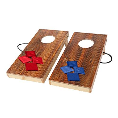 Spiel Cornhole Kinder (Massivholz Cornhole Board Set, Wurf spiele, Kinder Spielzeug, mit 8 Bean Bags, 30CM*60CM)