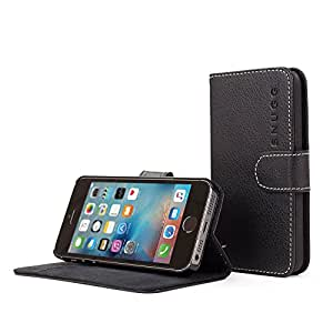 Snugg™ iPhone 6 Plus Case - Leather Flip Case with Lifetime Guarantee (Black) for Apple iPhone 6 Plus