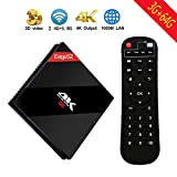 [2018 3+64GB] EstgoSZ Upgraded-Version Android 7.1 Smart TV Box 3G + 64G Amlogic S912 Octa Core 64 Bits mit Dual Band Wifi Bluetooth 4.1