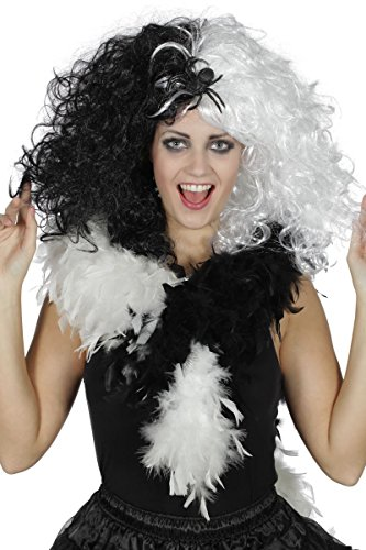 ke böse Dame schwarz-weiß Vampirin Hexe Halloween (Vampir Perücke Kind)