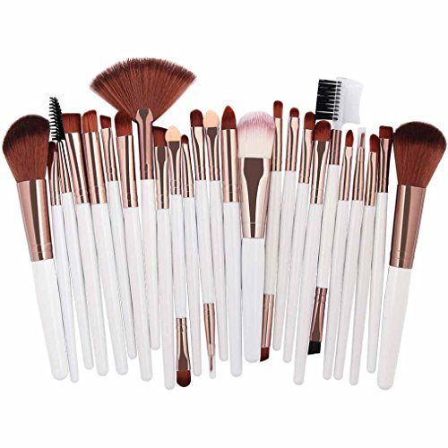 GJKK 25pcs Super Weich Kosmetik Bürste Set Werkzeuge Make-up Pinsel Rouge Lidschatten Pinsel Set...