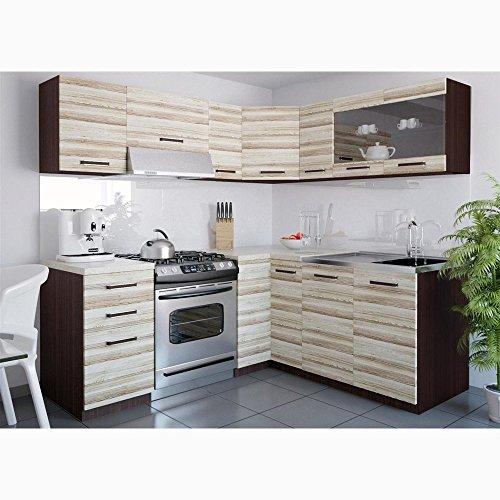 JUSThome Lidia L L-Küche Küchenzeile Küchenblock 190×170 cm Länge große Farbauswahl