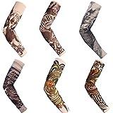 BIEE, Autek Hot Mangas tatuadas, Tatuaje Temporal, Talla, 6 Unidades - Juego de 6 Mangas con Apariencia de Tatuaje temporales para Brazo