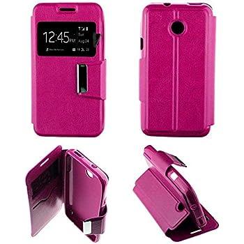 Housse Coque Etui Ice-Phone Twist Folio fenêtre Simili Cuir Protection intégrale- Rose Fushia