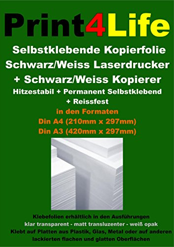 20 fogli di formato A4 Sé, REISSFESSTE, film in bianco