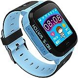 Reloj Infantil Inteligente Smartwatch para Niños Con llamada Toque HD Pantalla SOS GPS Linterna Cámara Despertador Compatible con Android IOS App
