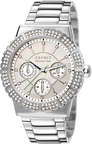 Esprit Damen-Armbanduhr Angelia Analog Quarz Edelstahl EL102062F04