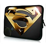 "Laptoptasche Notebooktasche 15"" - 15.6"" zoll Fall Neopren für Notebooks Dell HP Macbook Samsung Apple Toshiba*GOLD SUPERMAN*"