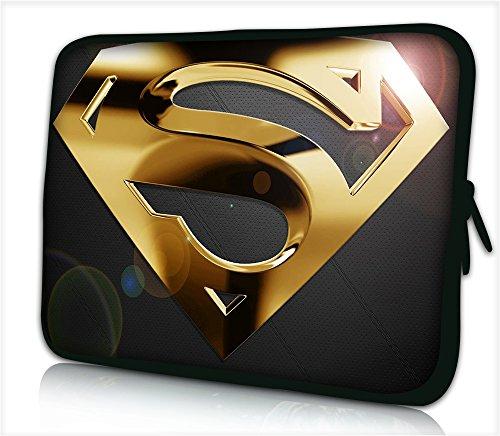"Laptoptasche Notebooktasche 15"" - 15.6"" zoll Fall Neopren für Notebooks Dell HP Macbook Samsung Apple Toshiba*GOLD SUPERMAN*"