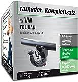 Rameder Komplettsatz, Anhängerkupplung Abnehmbar + 13pol Elektrik für VW TOURAN (152785-04954-1)