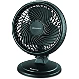 "Holmes HAOF87BLZ-UC Black Plastic Lil Blizzard 7"" Two-Speed Oscillating Personal Table Fan"