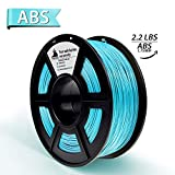 3D Filament, ABS 3D Printer Filament 1.75mm, 1KG Spool(2.2lbs),3D Printing Filament Dimensional Accuracy +/- 0.02mm- NO Clogging(Cyan)