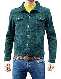 Jacket Corduroy Short Mod Indie Coat denim Cord Green 60's 70's Hippie
