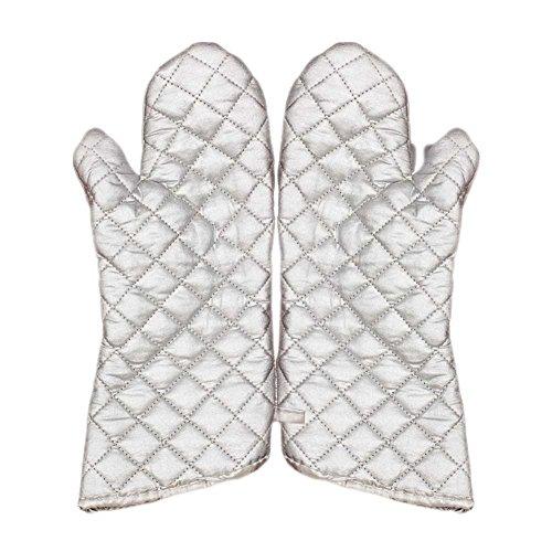 Lazy Puppy Dick Ofen Mikrowelle Fäustlinge hitzebeständig Kochen Handschuhe 1Paar Silber Mikrowellen-ofen-fäustlinge