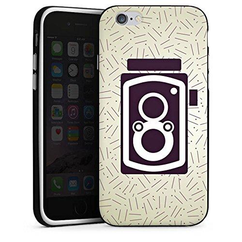 Apple iPhone X Silikon Hülle Case Schutzhülle Vintage Fotografie Kamera Silikon Case schwarz / weiß
