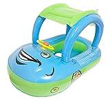 YEZOU Aufblasbares Kinderboot Beach Sommer Hingucker für Wasserspaß Familienspaß in See Meer & Schwimmbad umweltfreundlich PVC (Blau)