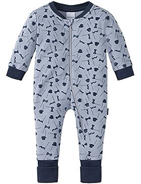 Schiesser Baby-Jungen Zweiteiliger Schlafanzug Zirkus Strong Boy Anzug mit Vario Fuß