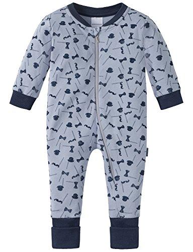 Schiesser Baby-Jungen Zweiteiliger Schlafanzug Zirkus Strong Boy Anzug mit Vario Fuß Grau (Hellgrau 204), 86 (Herstellergröße: 086)