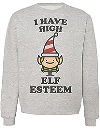 I Have High Elf Esteem Funny Little Elf Design Sudadera Unisex