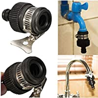 LC-Tools Universal Garden Hose Pipe Tap Connector Mixer Kitchen Bath Tap Faucet Adapter - Black