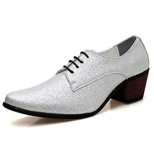 XUE Männer Spitzen Schuhe, Business-Kleid Schuhe, Wilde Herrenschuhe, erhöhte Freizeitschuhe (Farbe : B, Größe : 38) (Für Herren Non-slip-kleid-schuhe)