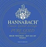 Hannabach cuerdas de graves serie 825chapados en oro de cuerdas para guitarra clásica de alta tensión-chapados en oro de 24quilates-precisión redondo nylon Mono filament Tenor cuerdas-fabricado en Alemania