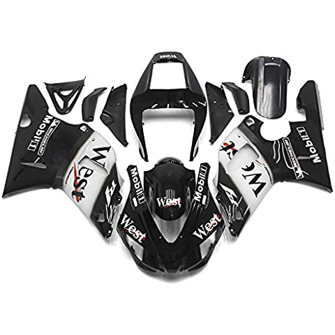 Sportfairings Blcak Blanco Completo Inyección Plástico Abs Carenados De La Motocicleta Para Yamaha Yzf 1000 R1 2000 2001