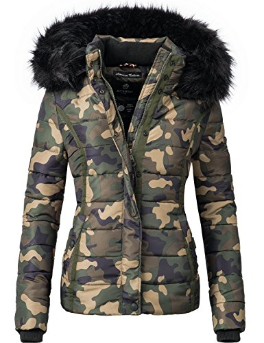fake felljacke Navahoo Damen Winter Jacke Steppjacke Miamor Camouflage Gr. L