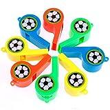 Goldge 24 x Trillerpfeife Kinder Fußballpfeife Bunt trillerpfeife fußball Plastik Mitgebsel