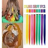 RYE Parrucchino arcobaleno Clip multicolore nelle estensioni per capelli per parrucche per bambole 9 PCS