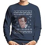 Christmas Alan Partridge A-Haaaapy Christmas Knit Pattern Men's Sweatshirt