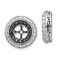 14ct White Gold Black and White Diamond Earrings Jackets Jewelry Gifts for Women
