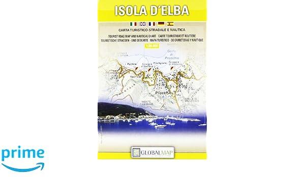Topographische Karte Isola d\'Elba 1:30000: Amazon.de ...