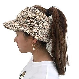 ☺HWTOP Damen Mützen Twist Schirmmütze Hüte Wollmütze Aushöhlen Multicolor Point Caps Wollmütze Pier Pferdeschwanzkappe des Beiläufigen Hip Hop Straßentanzhut Stapelkappens