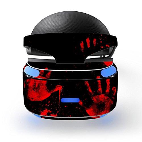 Feicuan Cool Design Wrap Decal Skin Cover Aufkleber für PSVR Playstation VR Headset -J049 (Scratch Halloween Vinyl)