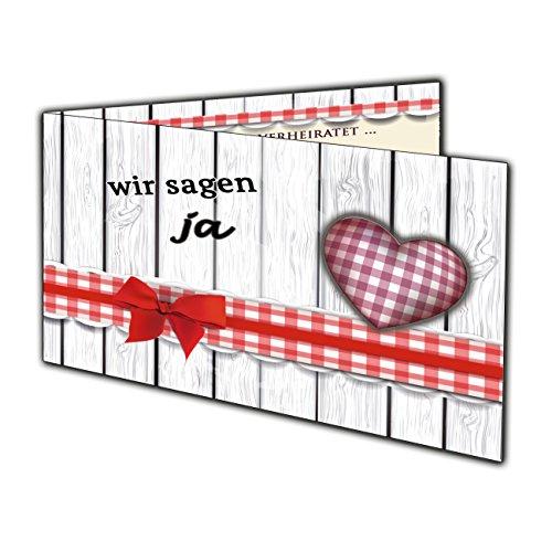 karten zur Hochzeit Hochzeitsfeier Einladung Karten Rustikal - 50 Stück (Günstige Rustikale Hochzeits-einladungen)