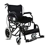 ACEDA Transport Wheelchair With Lightweight Steel Frame, Antimicrobial Protection,12KG Folding Chair Is Portable, Large 18 Inch Back Wheels