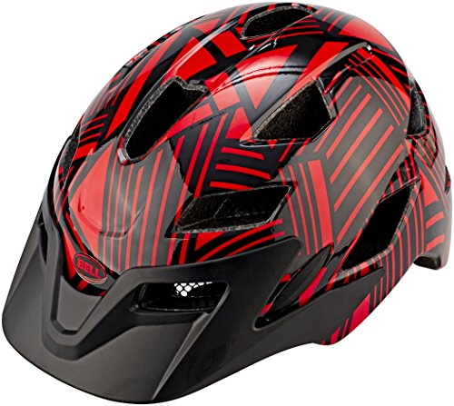Bell Unisex Jugend SIDETRACK Child Fahrradhelm red/Black Seeker, Unisize