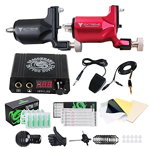 DragonHawk Tattoo Kit 2 Pro Extreme Rotary Machine