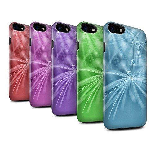 STUFF4 Glanz Harten Stoßfest Hülle / Case für Apple iPhone 8 / Rot Blume Muster / Blumen Fee Tropfen Kollektion Pack (6 Pk)