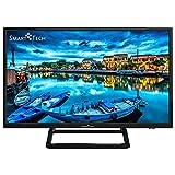 Smart-Tech SMT24P28SA41 Smart TV HD da 24 Pollici, Immagine ad Alta Definizione, con Triplo Sintonizzatore Incorporato e Wi-Fi (DVB-T2 / T/C / S2 / S, Colore Nero)
