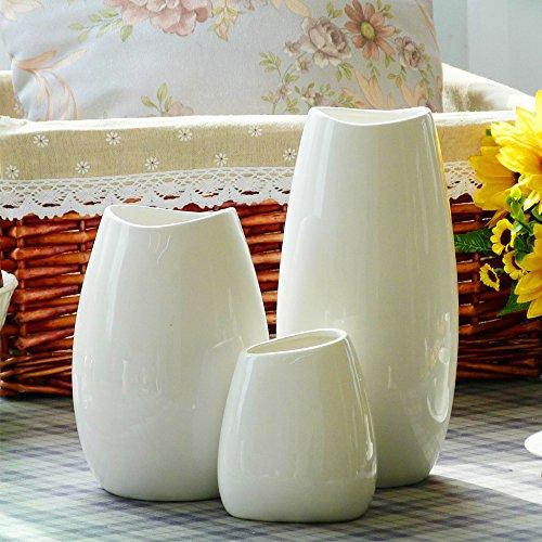 interesting white ceramic vases. THANLY Modern Style Large White Glazed Ceramic Vase  Simple Elegance Decorative Art Porcelain for Home decor Great Gift idea Amazon co uk