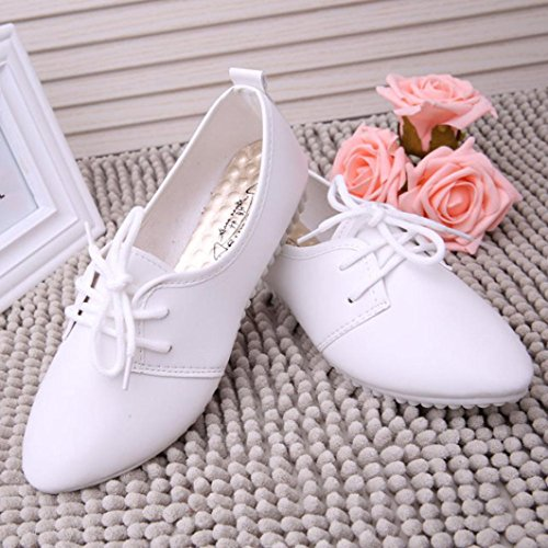 Vovotrade Femmes Chaussures Plates Glisser des Chaussures de Confort Chaussures Plates Mocassins Casual Chaussures Pois Blanc