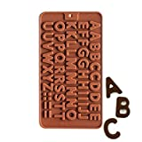 #7: SYGA Silicone Alphabets Shape Chocolate Jelly Candy Mold, Cake Baking Mold, Bakeware Mould, Brown
